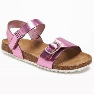 OLD NAVY Girls Metallic Pink Sandals